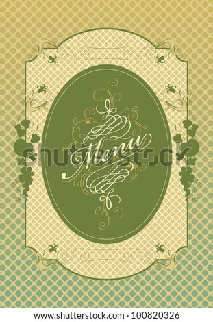 Frame menu with floral ornaments - stock vector