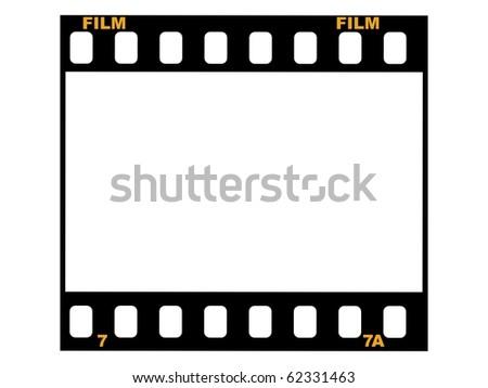 frame of film - stock vector