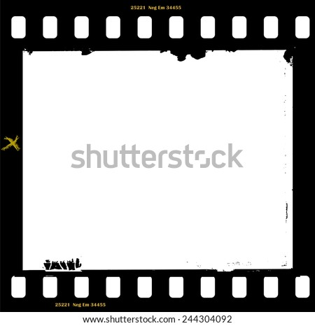 frame of film, grungy photo frame,with free copy space,vector illustration - stock vector