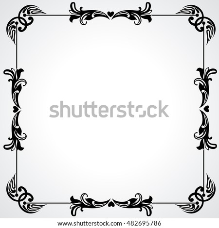 Frame of Flowers with a place for Your text. Vector Illustration