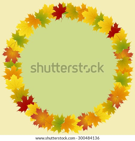 frame of maple leaves round
