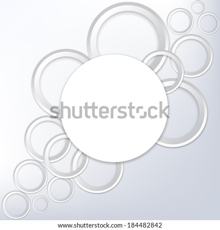 Frame of paper rings on a gray background. Vector  illustration  - stock vector