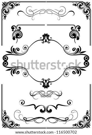Frame ornament and element - stock vector
