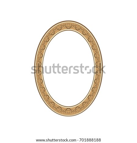 Frame Oval Twig Card Fashion Graphic Stock Vector 701888188