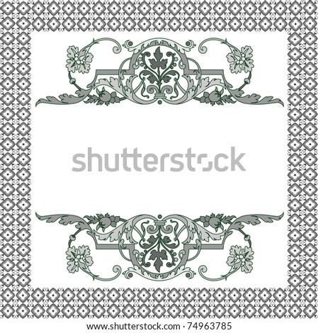 Frame patterns - stock vector
