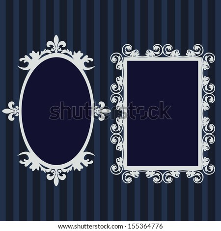Frame set,mirror set, border set  - stock vector