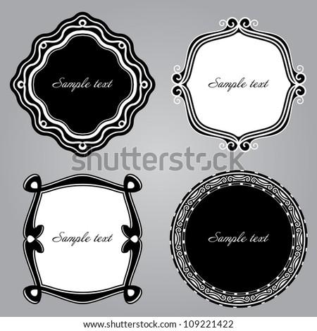 Frame Set ornamental. Vector - stock vector