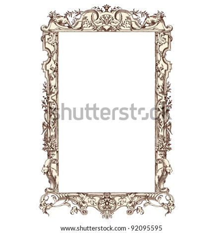 frame vector vintage engraved illustration costumes anciens et modernes by cesare veccello