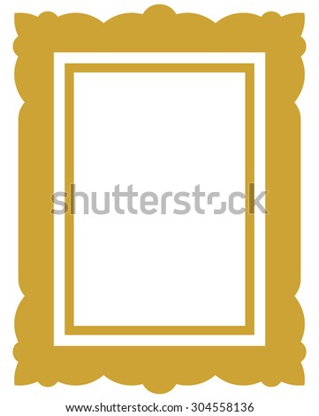 Frame vector vintage picture framed - stock vector
