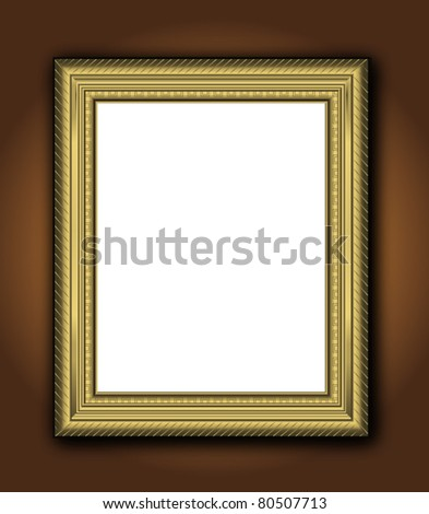 Frame vintage antique Baroque picture vector vertical gallery - stock vector