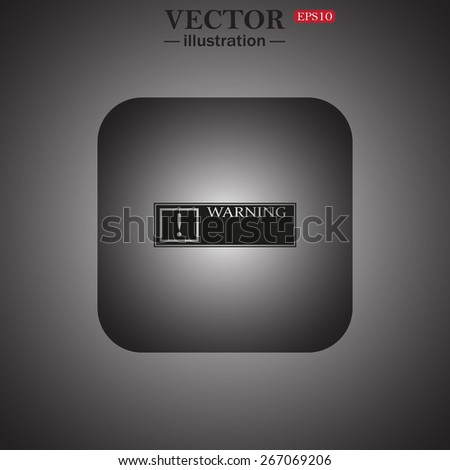 Frame warnings, important information security, web icon. vector design