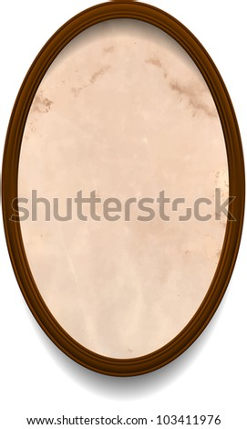 Frame with aged paper - stock vector