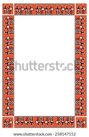 Frame with ancient Greek warriors - stock vector