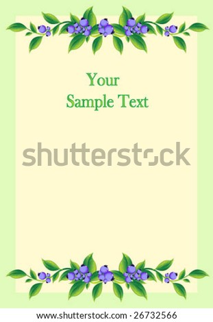 Frame with berries - stock vector