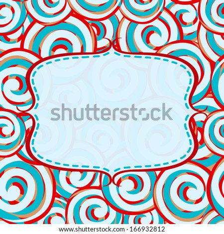 Frame with candy lollipops background - stock vector