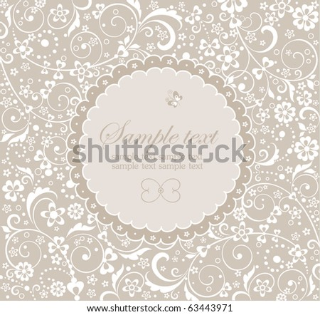 Frame with floral design - stock vector