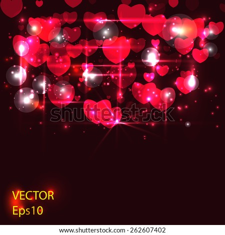 frame with hearts for your text - stock vector