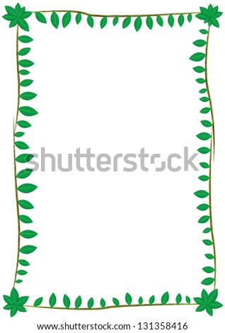 Frame with leaves of different sizes - stock vector
