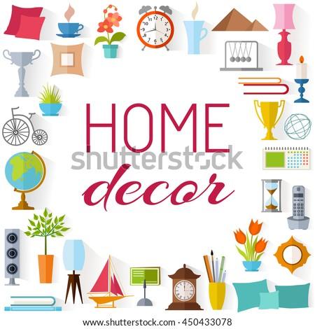 Elegant Frame Place Inscription Home Decor Set Stock Photo (Photo, Vector,  Illustration) 450433078   Shutterstock