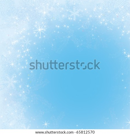 Frame with snowflakes and frosty patterns