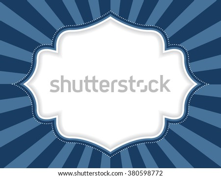 Frame with stripes. Vector illustration. - stock vector