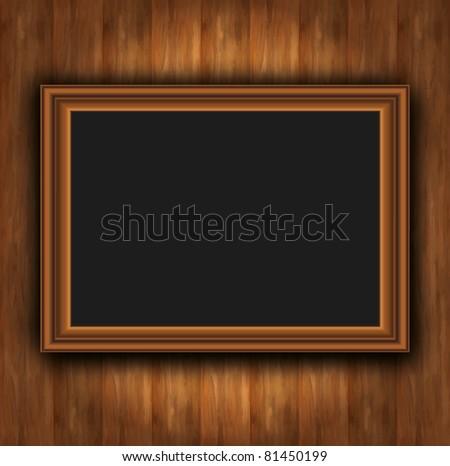 Frame wood board photoframe vector - stock vector