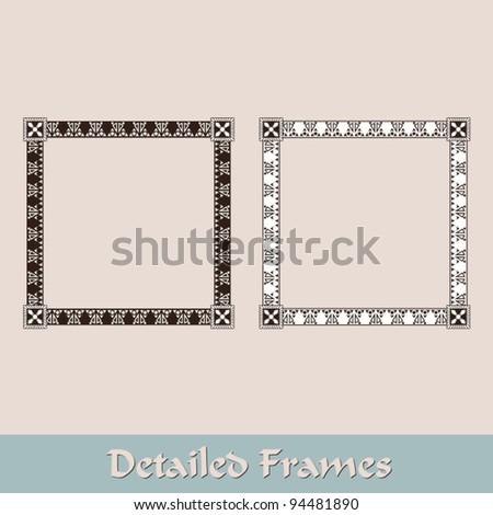 Frames - stock vector