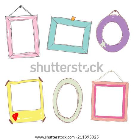 Frames Kids Stock Vector 211395325 - Shutterstock