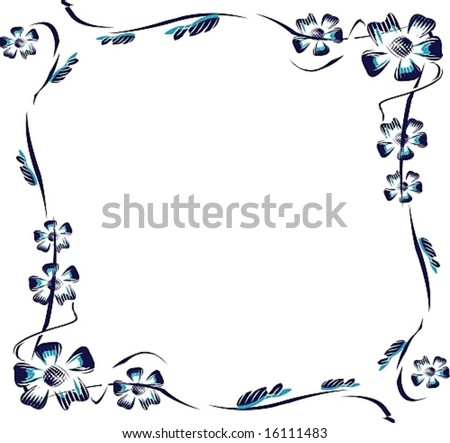 Framework from vector flowers, a flower pattern