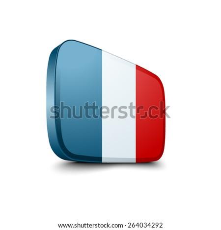 France button - stock vector