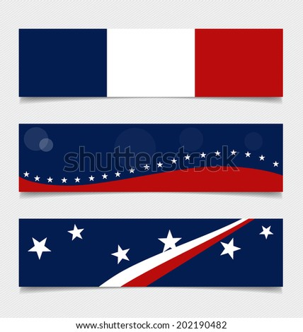France, Flags concept design. Vector illustration.