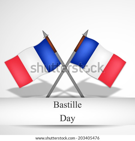 France Flags for Bastille Day - stock vector