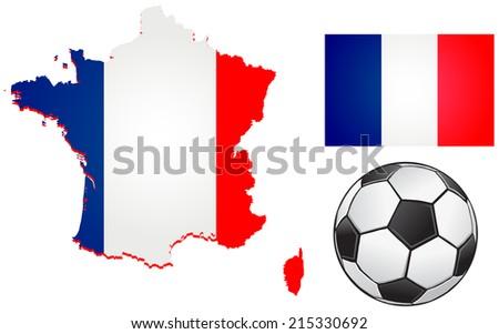 France football vector - stock vector
