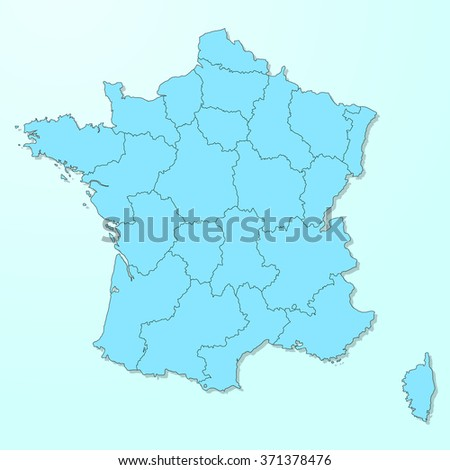 France map on blue degraded background vector - stock vector