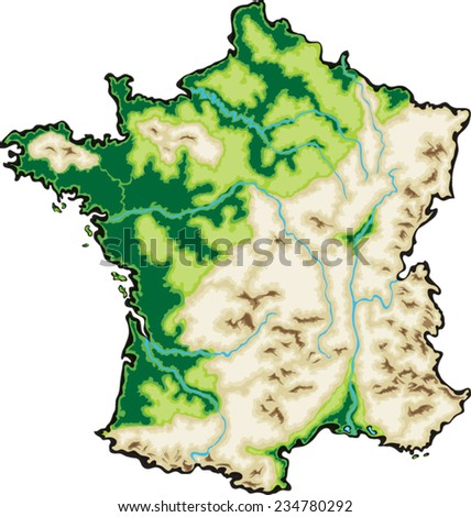 France Map Vector Illustration isolated on a white background