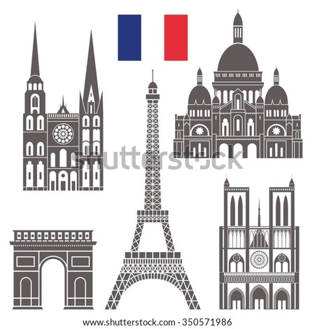 France. Vector. Silhouette. Icon