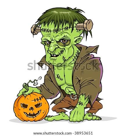 Frankenstein - Halloween - stock vector