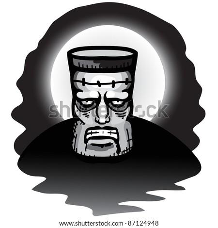 Frankenstein monster - stock vector