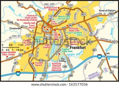 Owensboro Kentucky Area Map Stock Vector 163577144
