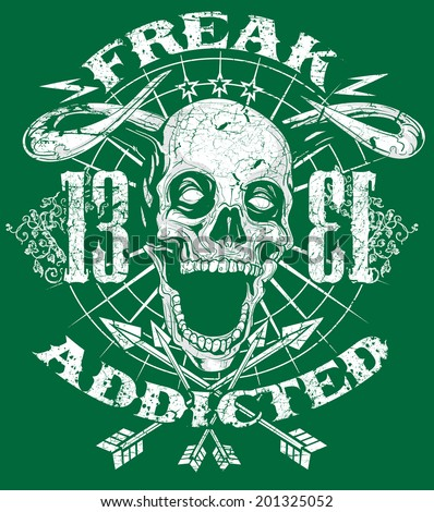 Freak addicted - stock vector