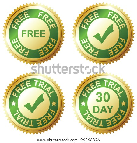 FREE and FREE TRIAL - stock vector