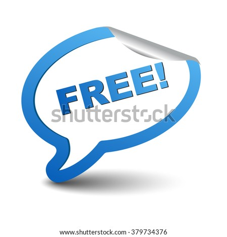 free, blue vector free, blue bubble free, sticker bubble free, element free, sign free, design free, picture free, illustration free, free eps10 - stock vector