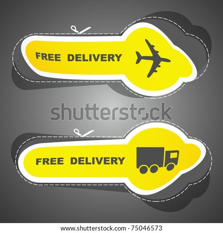 Free delivery element set for sale - stock vector