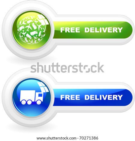Free delivery elements for sale. - stock vector