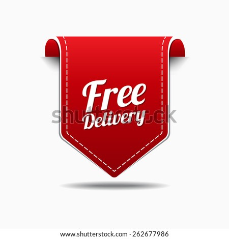Free Delivery Red Vector Icon Design