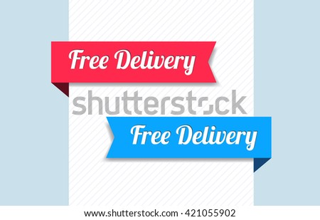 Free Delivery Ribbons