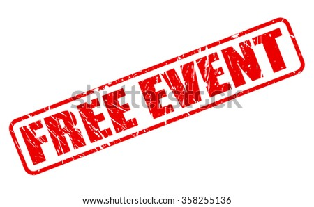 FREE EVENT red stamp text on white - stock vector