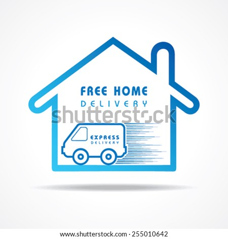 Free Home Delivery concept for increase the sell stock vector - stock vector