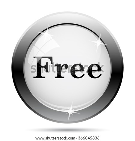 Free icon. Internet button on white background. EPS10 vector.
