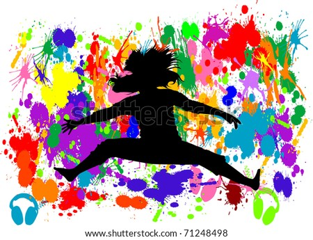 Free Jumping - stock vector